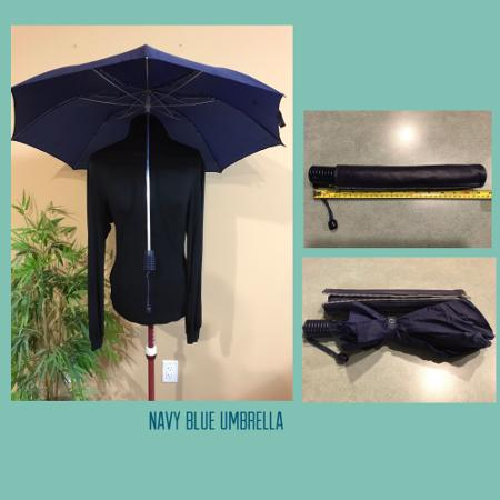 Umbrella, collapsible, navy blue for sale  Canada