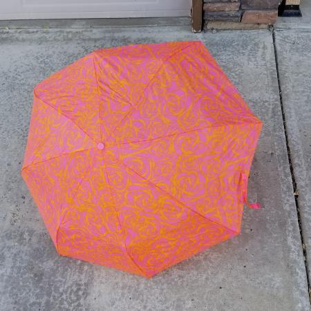 Pink & orange collapsible umbrella for sale  Canada