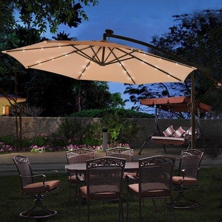 10' Hanging Solar LED Umbrella Patio... for sale  Canada