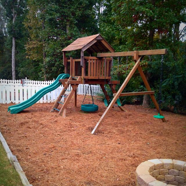 Find More Original Woodplay Outback Cedar Swing Set Complete With