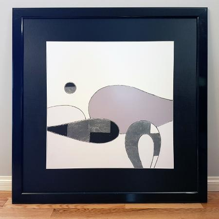 """Abstract Framed Print 40"""" x 40"""" for sale  Canada"""