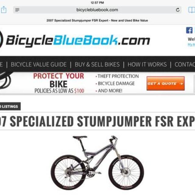 2007 Specialized StumpJumper Mountain Bike
