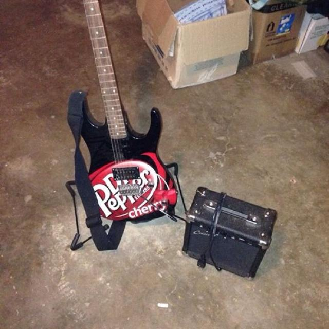 LMT Edition Dr Pepper Electric Guitar And Small Amp REDUCED