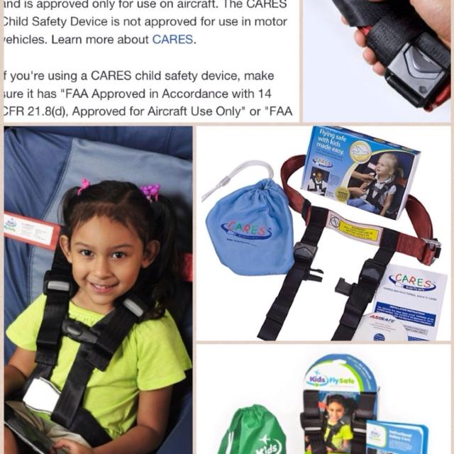 CARES Kids Fly Safe Airplane Safety Harness for 22~44 pounds child,FAA CERTIFIED