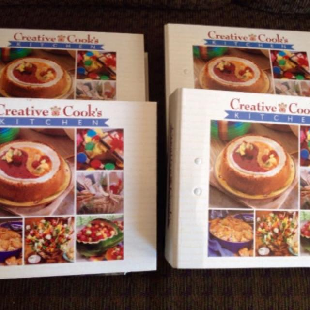 Cookbooks Complete 4 Binder Set Of Creative Cook S Kitchen Recipes