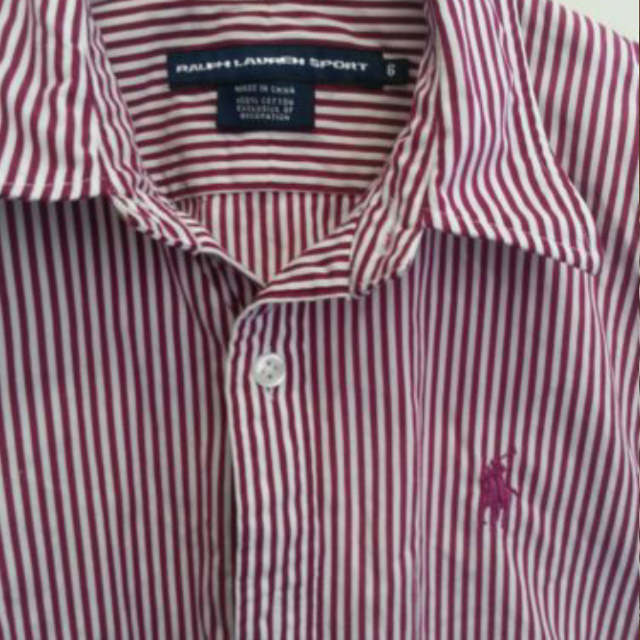 47222b9c Best Polo Ralph Lauren Women's Red/maroon And White Striped Button Down.  Size 6 for sale in Huntersville, North Carolina for 2019