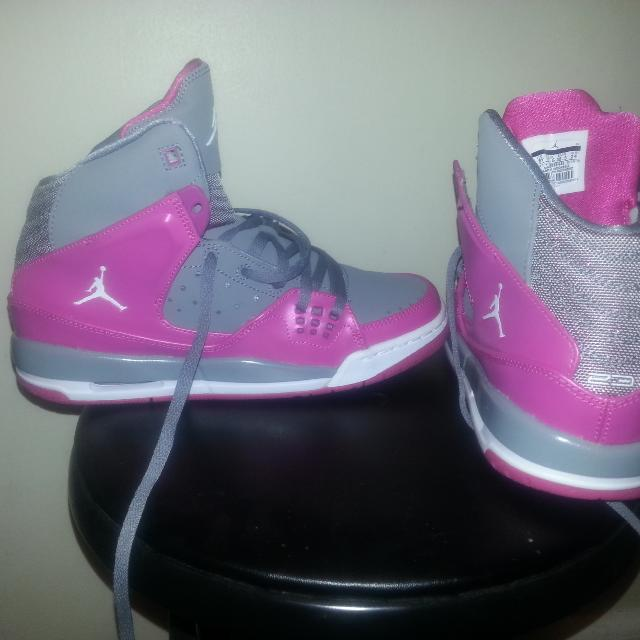 low priced 3e884 ca86d Best Brand New Without Box Size 6 Girls Sc1 Pink And Grey Jordans for sale  in Manchester, New Hampshire for 2019