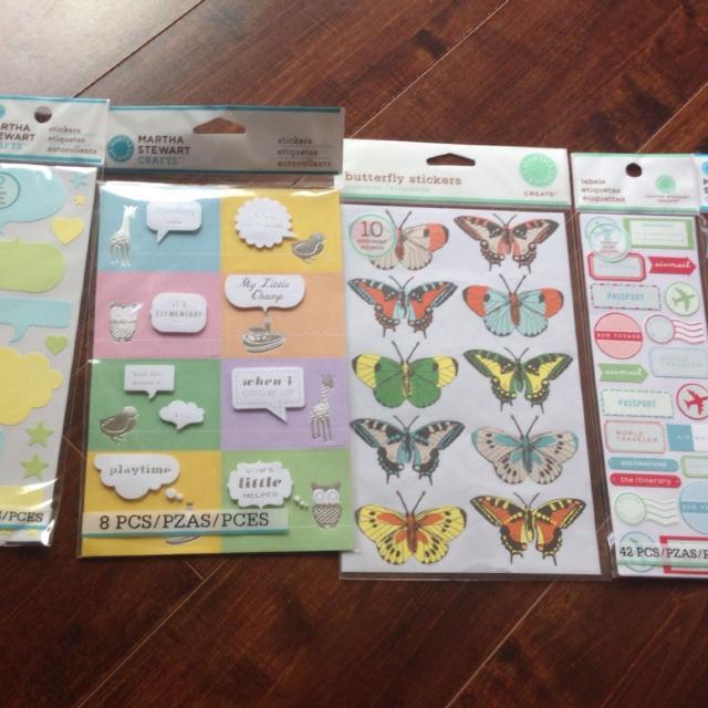 Best Scrapbooking Sticker Martha Stewart Baby Butterfly Travel