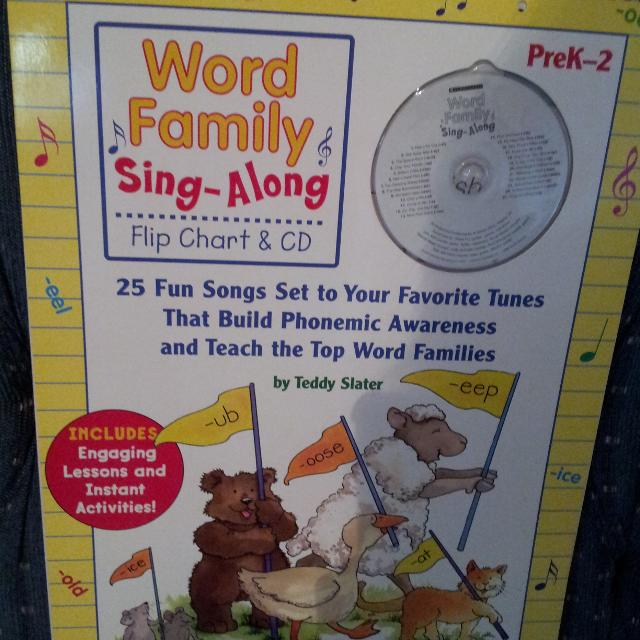 find more scholastic word family song along book flip chart for