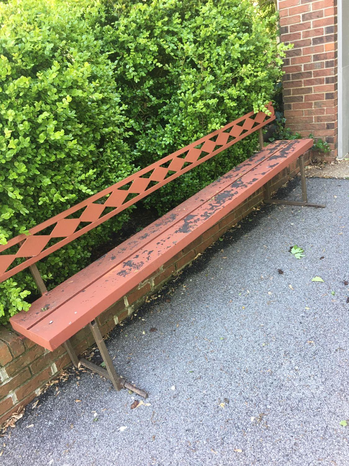 Find More Red Metal Bench For Sale At Up To 90 Off