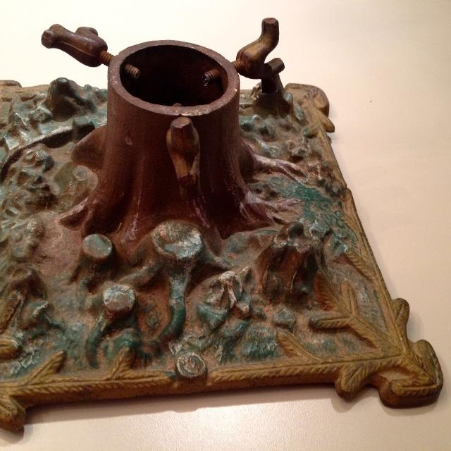 Find More Antique German Christmas Tree Stand Cast Iron With Look Of