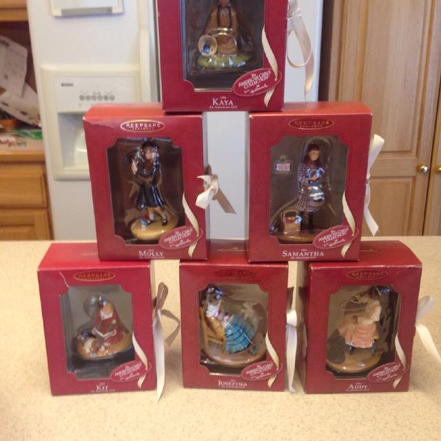 6 american girl doll christmas ornaments with original boxes - Christmas Decorations For American Girl Dolls