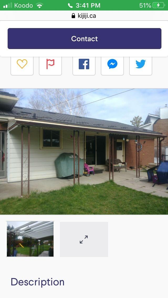 Best Metal Awning For Sale for sale in Hanover, Ontario ...