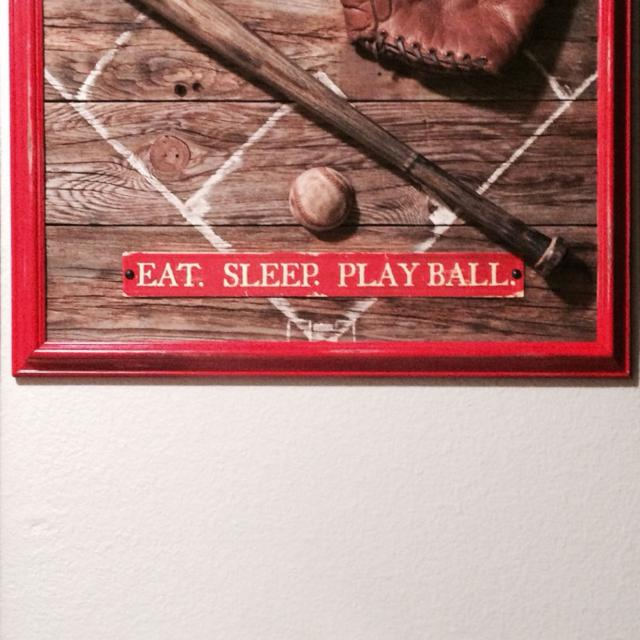 Authentic Barnwood baseball decor