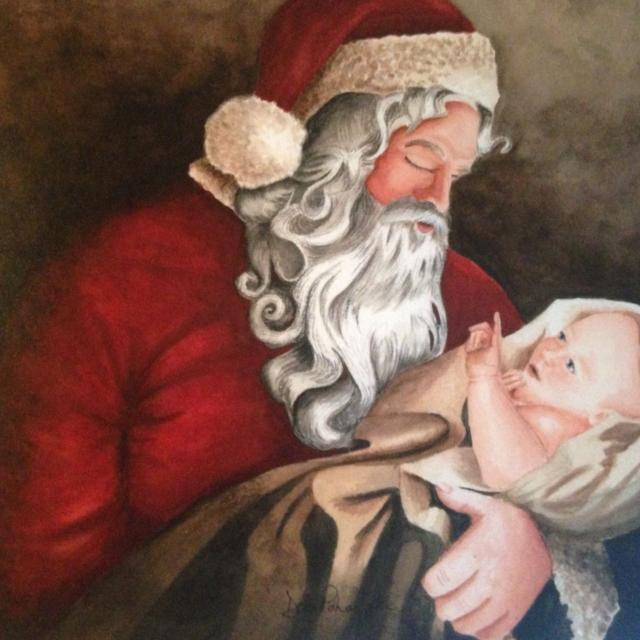 Santa holding baby Jesus print in Germantown, Tennessee for 2020