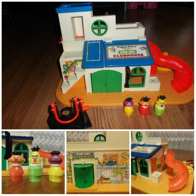 VINTAGE 1976 FISHER PRICE LITTLE PEOPLE SESAME STREET CLUBHOUSE #937