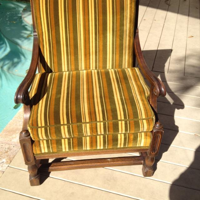 Find more Reduced Deco Old-school Solid Wood Armchair. Cushions In ...