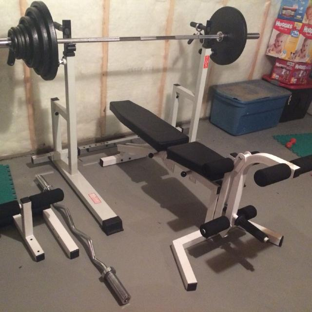 Olympic Weight Set Rack And Bench