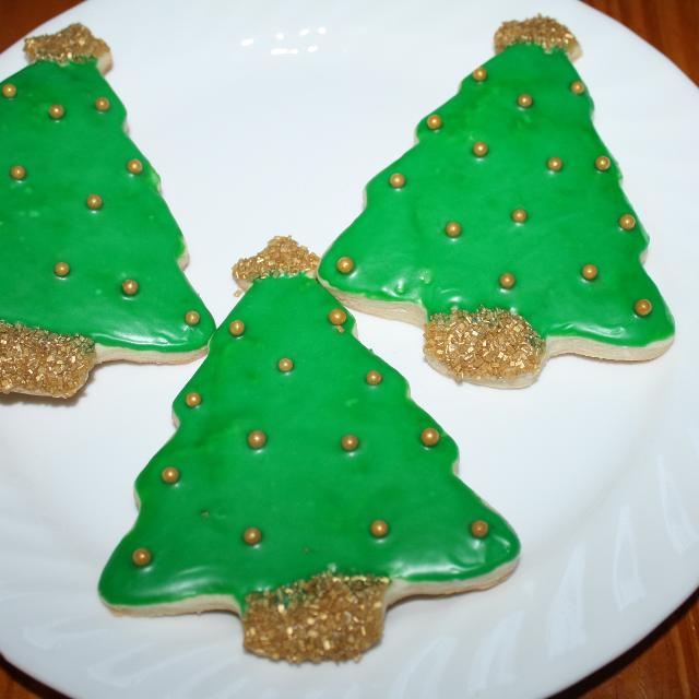 Christmas Tree Sugar Cookies