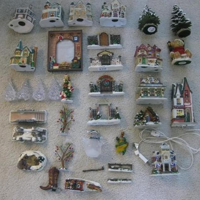 christmas decorations 30 assorted items christmas villagecobblestone cornerswindham heights