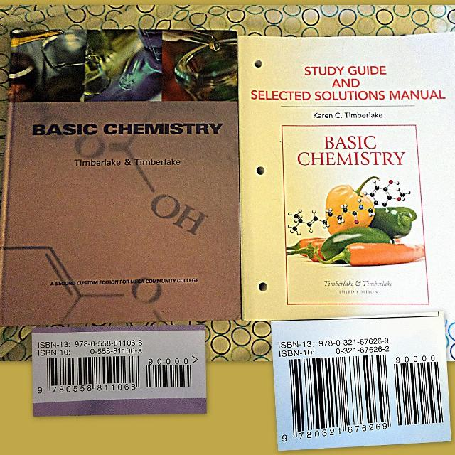 MCC Basic Chemistry Textbook and Solutions Manual