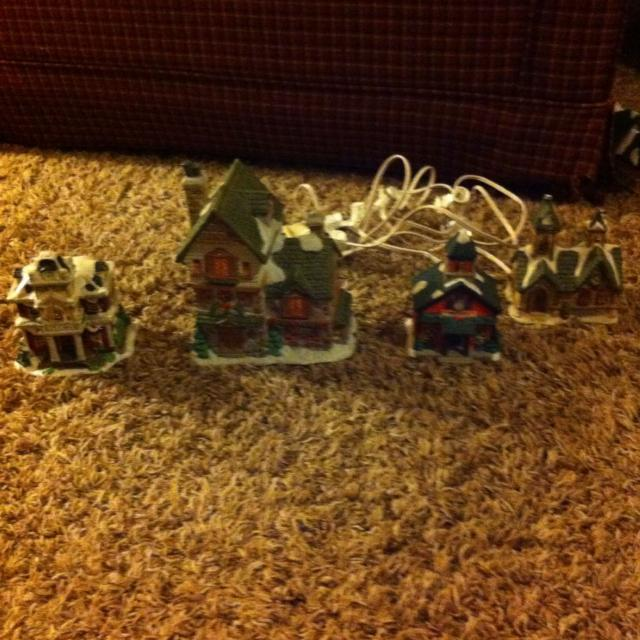 christmas village made by cobblestone corners windham heights