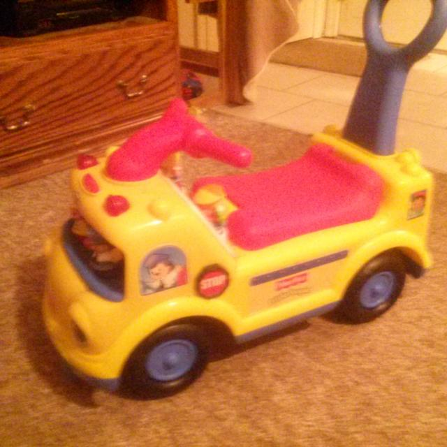Best Euc- Fisher Price Little People School Bus Ride On for sale ...
