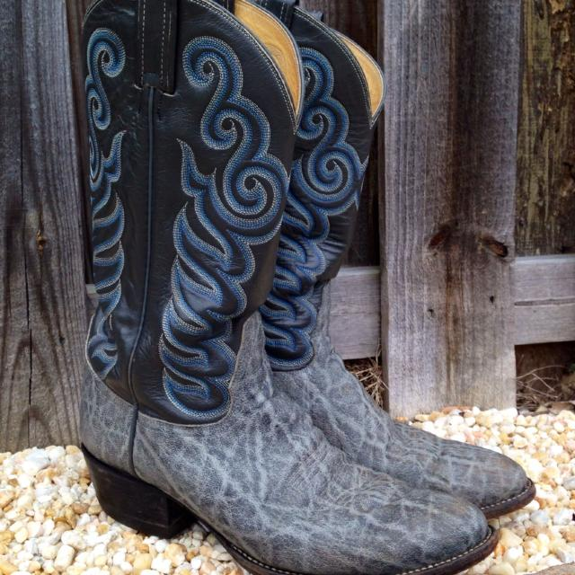 ee8af1ed589 *RARE* Reduced Exotic Vintage ELEPHANT Skin Boots by Tony Lama, Men's  ***Reduced Price***