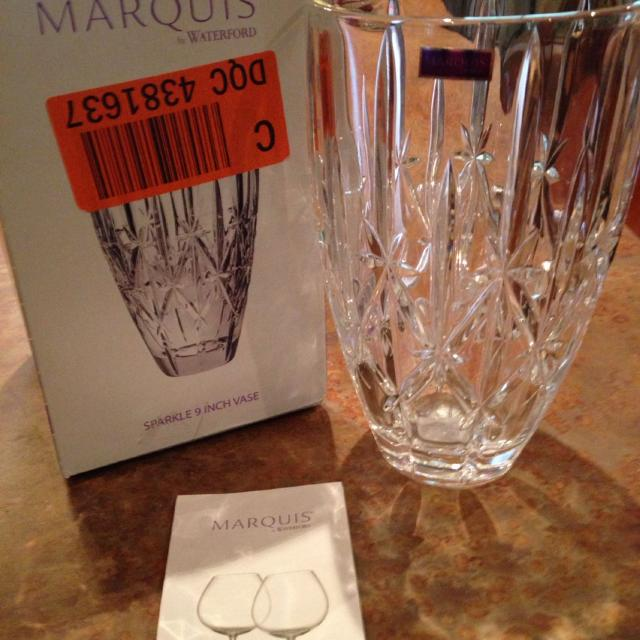 Best Marquis By Waterford Sparkle 9 Inch Vase For Sale In Wimberley