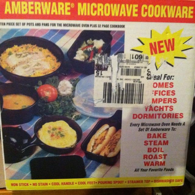 New In The Box Amberware Microwave Cookware 15 Need Gone Today