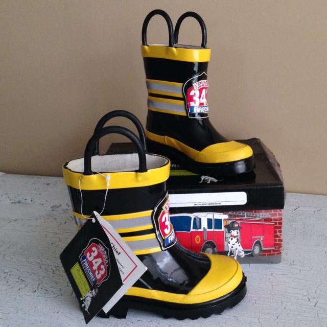 Best Western Chief Kids Fireman Rain Boots, Toddler Size 7, New In ...