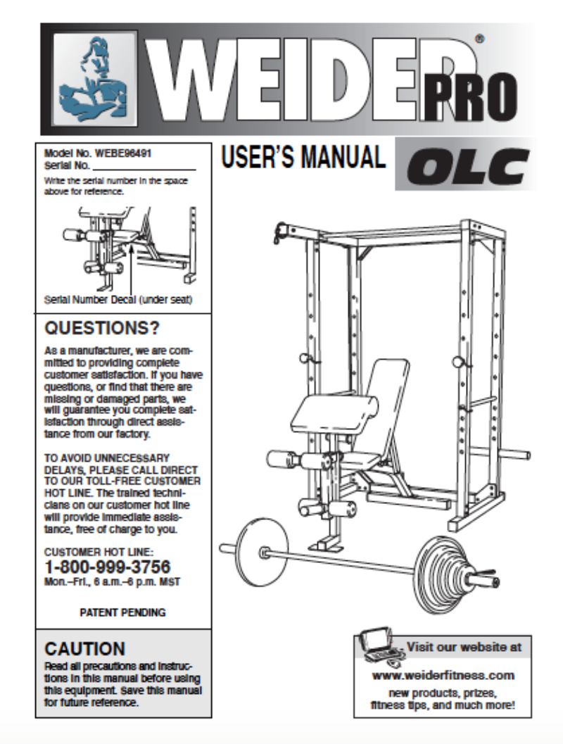 Best Weider Pro Olc / Body By Jake Home Gym Equipment