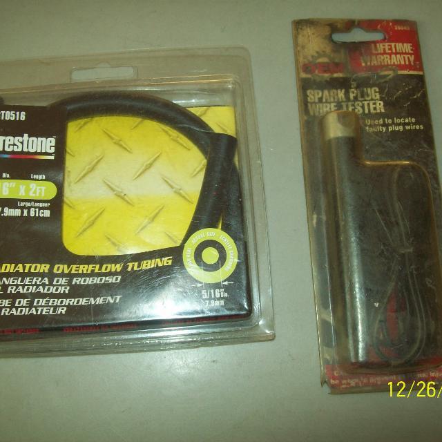 Spark plug wire tester & Radiator overflow tubing 5/16