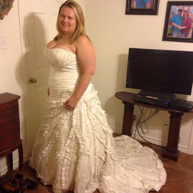 Size 22 Wedding Dress Alfred Angelo 450 Obo Cross Posted
