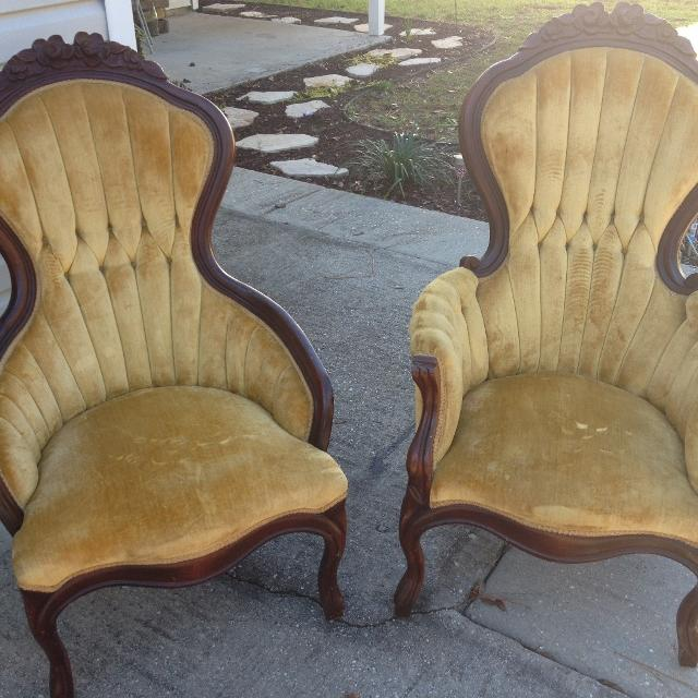 Victorian Parlor Chairs (Set) - Best Victorian Parlor Chairs (set) For Sale In Panama City, Florida