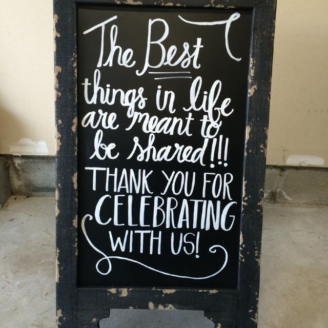 Wedding Chalkboard Sandwich Board Sign