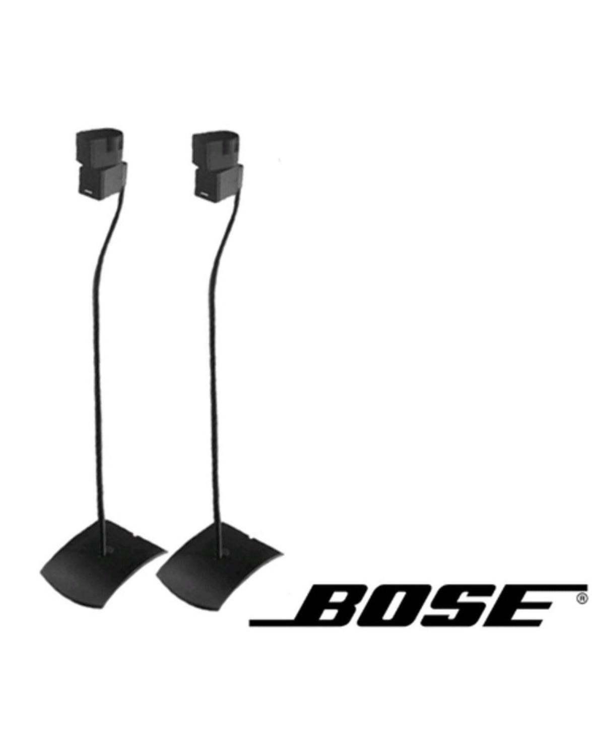 best bose ufs 20 universal speaker floor stands 2 pair black for sale in mcdonough georgia. Black Bedroom Furniture Sets. Home Design Ideas