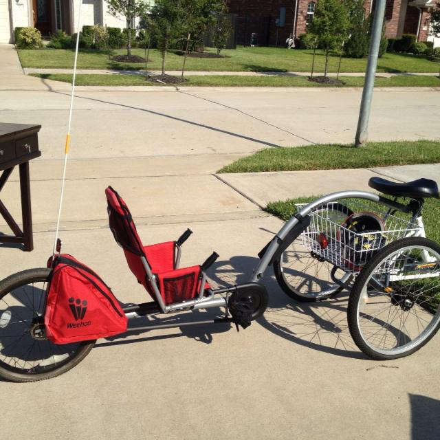 Find More Weehoo Pedal Trailer 150 Bike Not Included Used