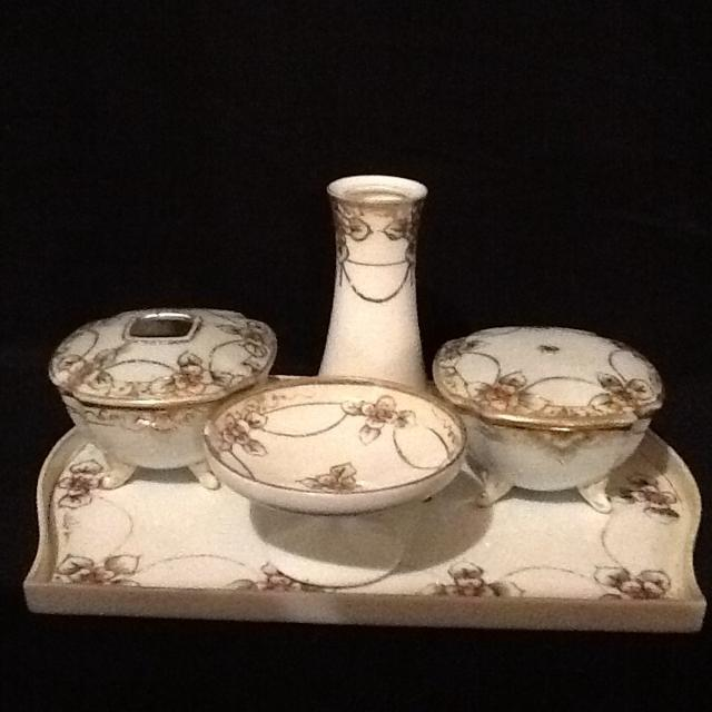 Best Hand-painted Vanity/dresser Set: Vintage Noritake (morimura)/nippon  Set (seven-pieces) - Lsk for sale in Morton, Illinois for 2019