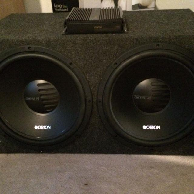 Two 15 inch Orion subwoofers in a ported box