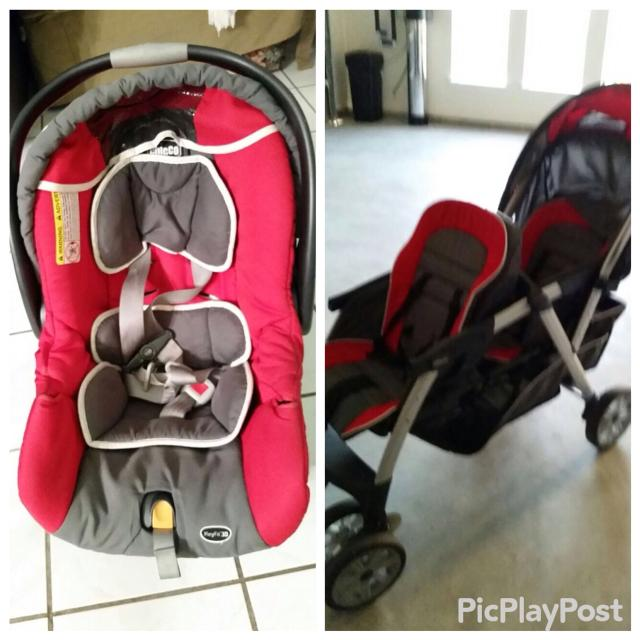 Chicco Double Stroller Car Seat With Base Very Good Condition