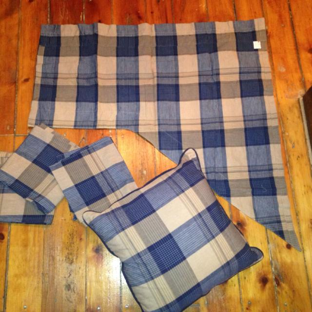 Curtains And Matching Throw Pillows EUC Extremely Gently Used In Spare Bedroom 4 Panels 2