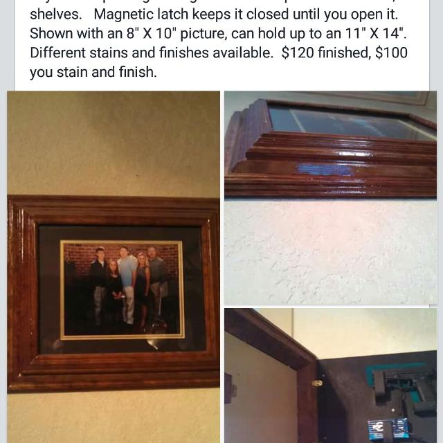 Best Picture Frame With Hidden Compartment My Husband Hand Makes