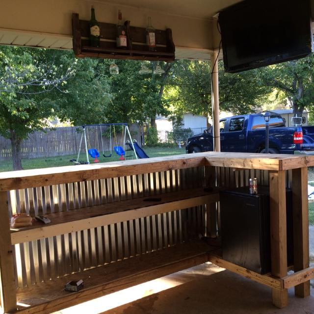 Best Custom Built Outside Bar! 8x4 Ft. $500 These Bars Are Made To ...