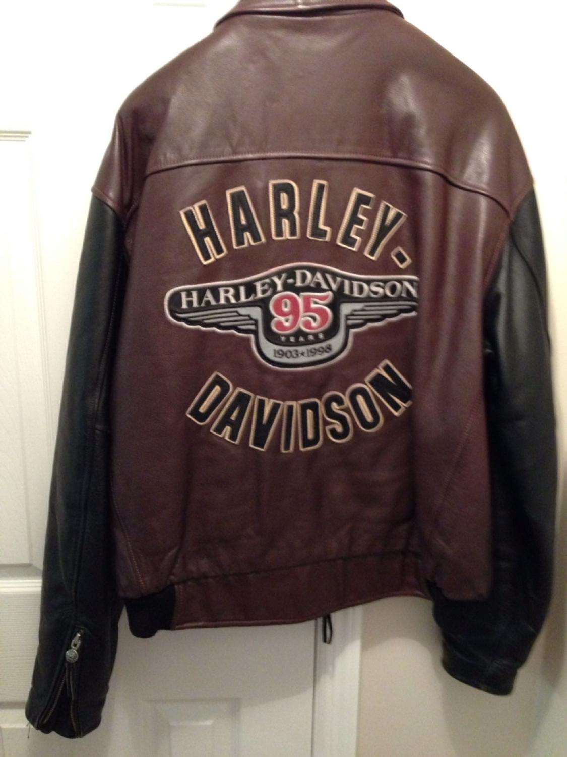 Best Harley Davidson 95th Anniversary Leather Jacket. Like ...