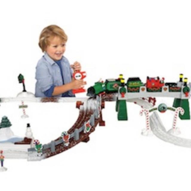 geo trax christmas train set discontinued hard to find