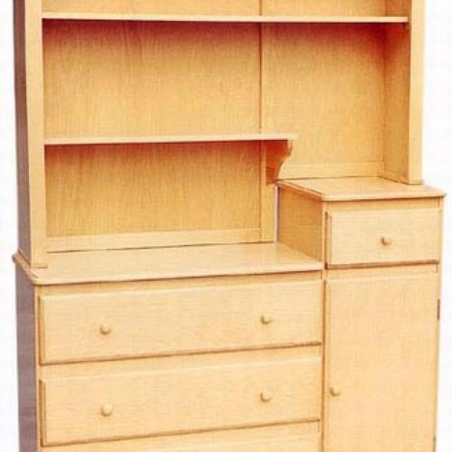 Dresser Changing Table Combo With Hutch 175