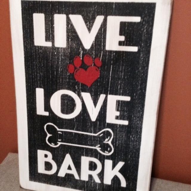 best live love bark sign for sale in ladner british columbia for 2018