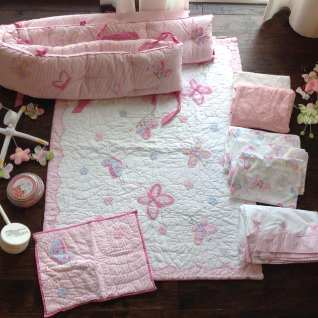 Baby Pottery Barn Kids Lindsey Nursery Bedding Set Excellent Used Condition Like New