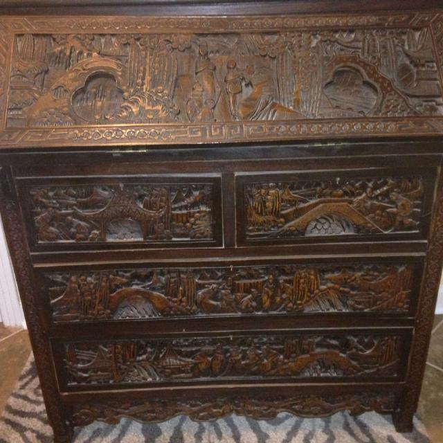 Best Antique Secretary Desk Oriental For In Fort Bragg North